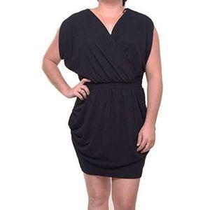 RACHEL Rachel Roy Black Wrap Front Dress
